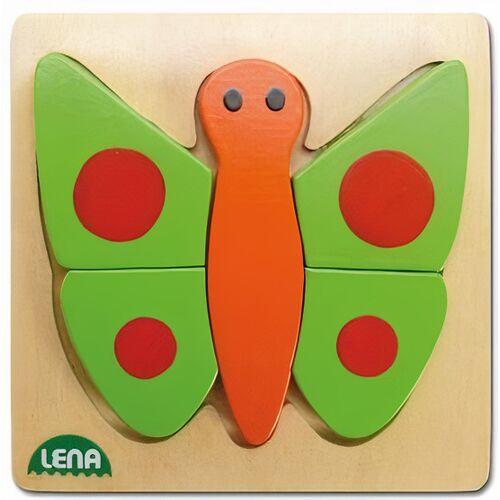 Lena tierpuzzle Schmetterling Junior Holz 14 x 14 cm
