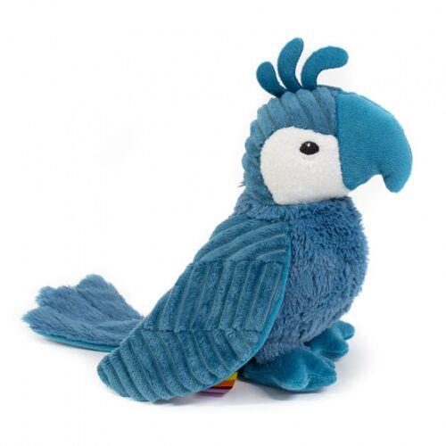 Les Deglingos kuscheltier Papagei blau 20 cm