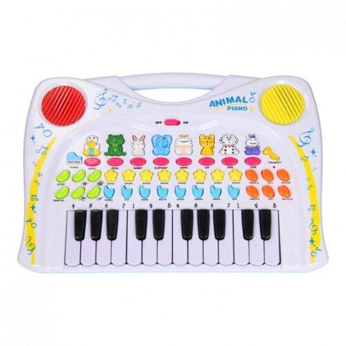 Let's Play tier Tastatur mit 24 Tasten weiß 38 cm