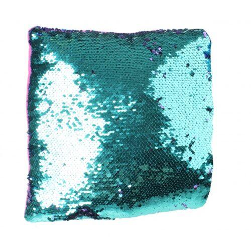 LG Imports kissen mit Pailletten 29 cm rot blau violett