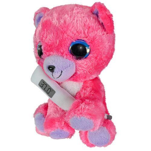 Lumo Stars teddybär mit Thermometer Junior 15 cm Plüsch rosa