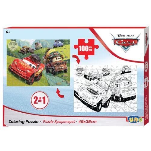 Luna ausmalbild und Puzzle Autos 49 x 36 cm Karton 100 Teile