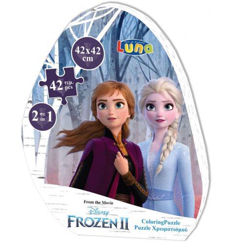 Luna ausmalbild und Puzzle Gefroren II 42 cm Karton 42 Teile