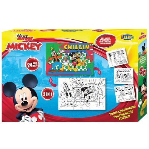 Luna puzzle/Malseite Mickey Mouse Karton 24 Stück