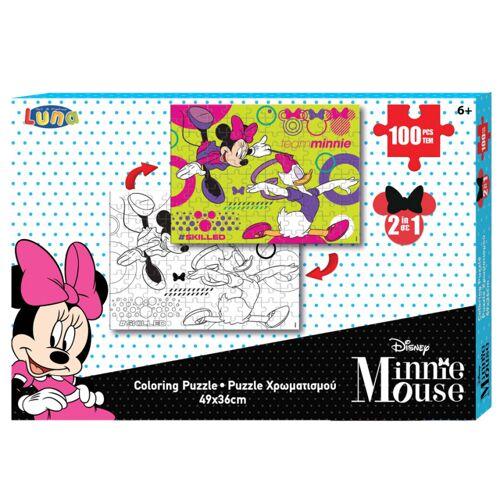 Luna farbbild und Puzzle Minnie Mouse 49 cm Karton 100 Teile