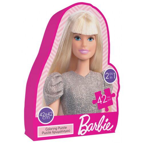 Luna farbpuzzle 2 in 1 Barbie Mädchen 42 cm 2 teilig