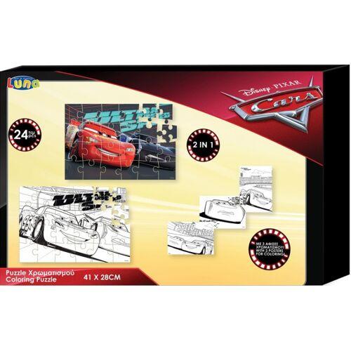 Luna puzzle/Farbtafel Cars Jungen Karton 24 Teile