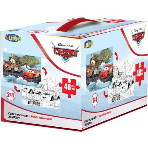 Luna puzzle/Farbtafel Cars Mädchen Karton 48 Teile