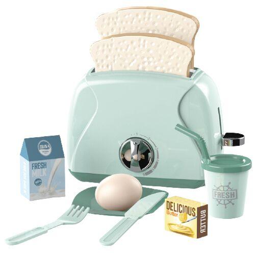 Luna spielzeug toaster Happy Gourmet junior grün 10 teilig