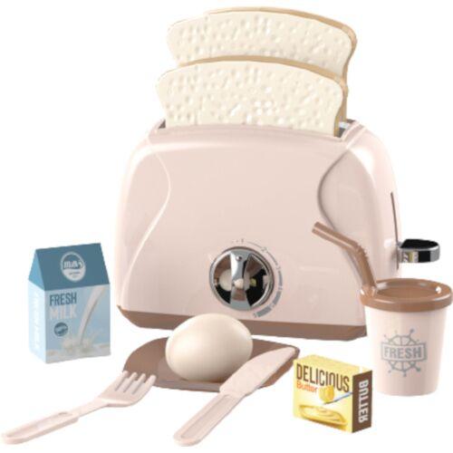 Luna spielzeug toaster junior rosa 10 teilig