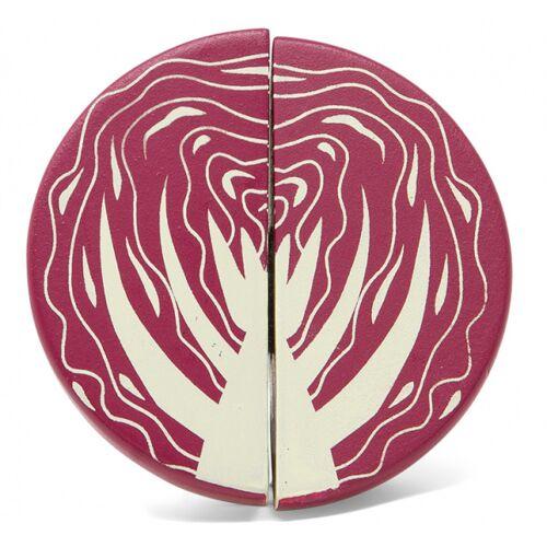 Mamamemo rotkohl 4,5 x 3,5 cm Holz violett 2 teilig