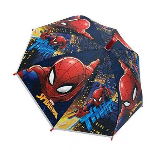 Marvel regenschirm Spiderman junior 38 cm stahl/polyester blau