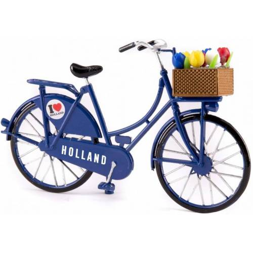 Matix miniaturfahrrad Ich liebe Holland 15 x 9 cm metallblau