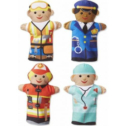 Melissa & Doug Handpuppen jolly Helfer 4 Puppen
