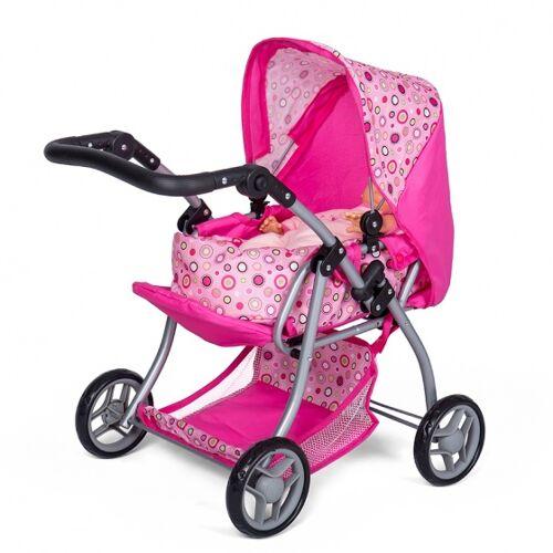 Mini Mommy Puppen Kinderwagen rosa 59 x 35,5 x 62 cm