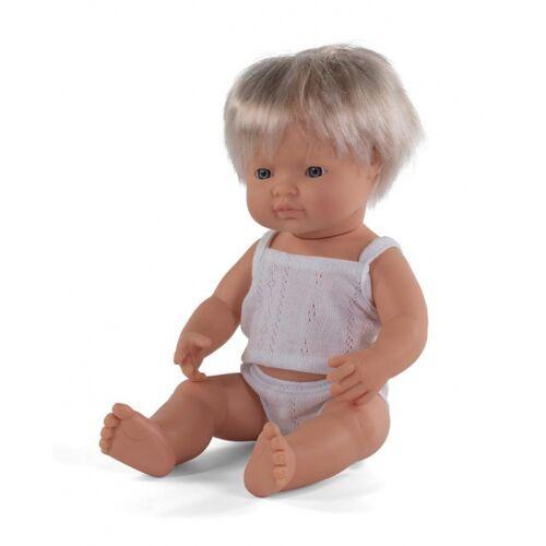 Miniland babypuppe Junge mit Vanilleduft 38 cm blond