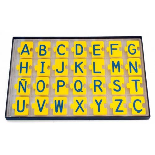 Miniland lernpuzzle abc Alphabet Puzzle gelb/blau 168 Teile