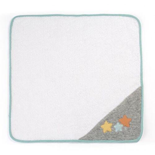 Miniland puppenschal weiß/grau/minzgrün