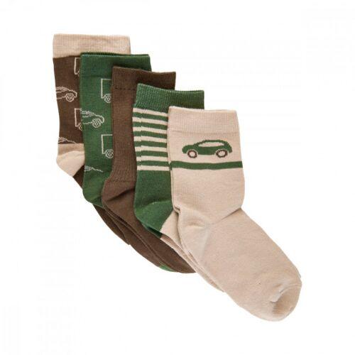 Minymo jungen Baumwolle Armee grün Socken 5 Paar Größe 35 38