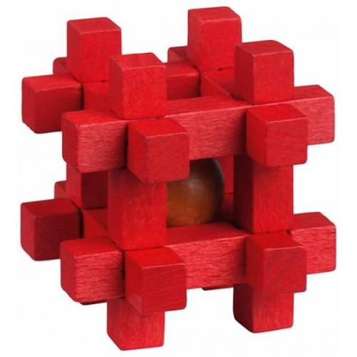 Moses Be clever! Sie Be clever! Smart Holz Puzzle rot 6cm