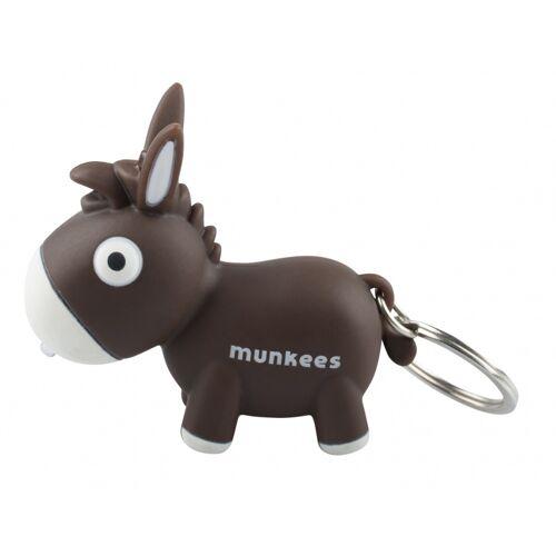 Munkees schlüsselanhänger Esel mit hellbraunem Junior 6,1 cm
