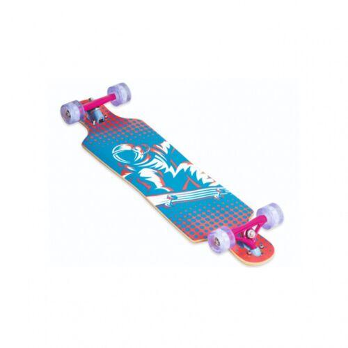 Muuwmi longboard 83 x 22 cm blau/rosa
