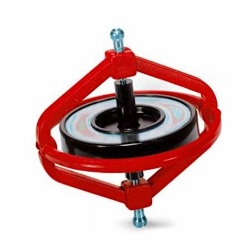 Navir gyroskop Wonder junior 7,5 cm Stahl rot 2 teilig