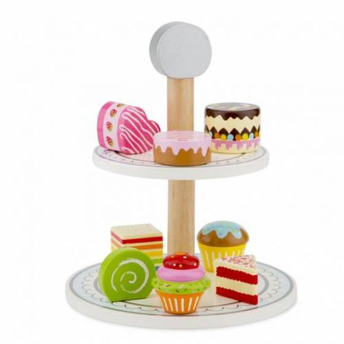 New Classic Toys etagère mit Kuchen Junior Holz 9 teilig