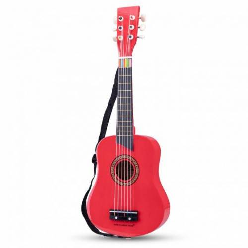 New Classic Toys gitarre De Luxe junior 64 cm Holz rot 4 teilig