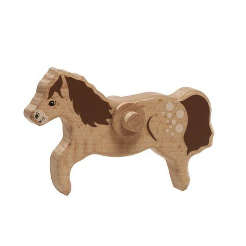 Nic braunes Pferd 12 cm Holz