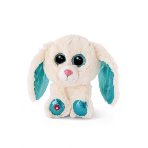 Nici stofftier Glubschis Kaninchen junior 15 cm Plüsch weiß/blau
