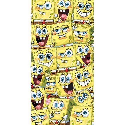 Nickelodeon badetuch SpongeBob junior 70 x 140 cm Baumwolle gelb