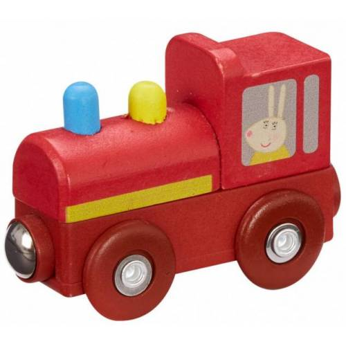 Nickelodeon zug Peppa Pig junior 7,5 x 4,7 cm Holz rot