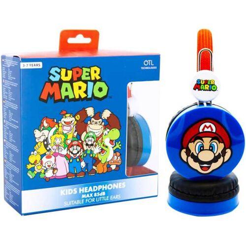 Nintendo kopfhörer Super Mario junior 3,5 mm 85db blau