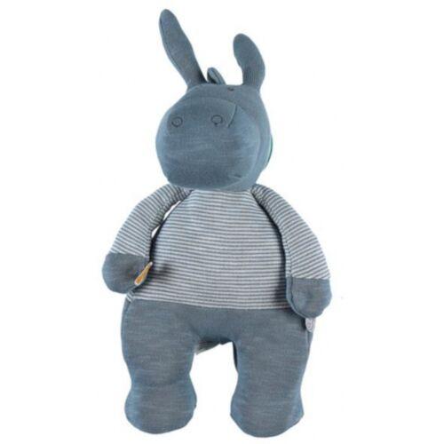 Noukie stofftier Paco 10 x 13 x 32 cm Baumwolle blau