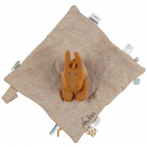 Noukie stofftier Paco 28 x 20 x 7 cm Baumwolle ockergelb