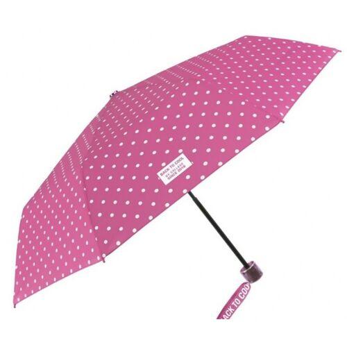 Perletti regenschirm Cool Kidsfaltbar 91/52 cm Mädchen rosa/weiß