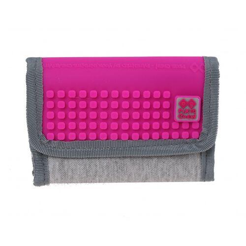 Pixie crew brieftasche mit Fach 13 cm grau/fuchsia