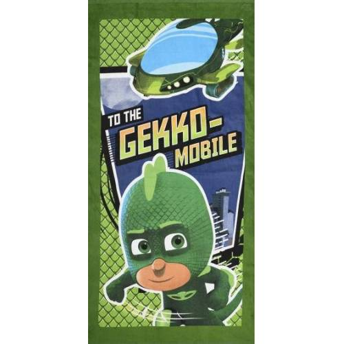 Disney badetuch To The Gekko Mobile PJ Masks 140 cm grün