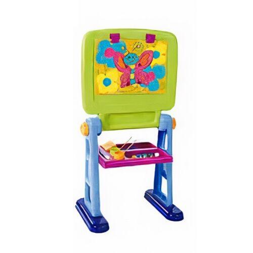 Playgo magnettafel 49 x 36 x 92 cm grün/blau