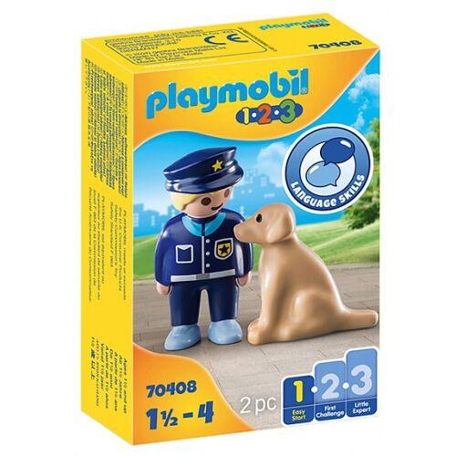 Playmobil 1,2,3   Polizist mit Hund