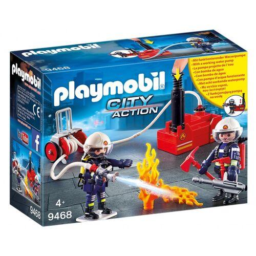 Playmobil City Action   Feuerwehrteam mit Wasserpumpe (9468)