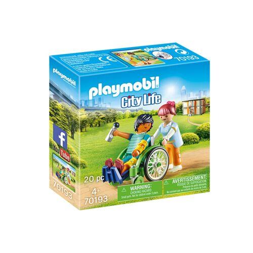 Playmobil City Life   Patient im Rollstuhl (70193)