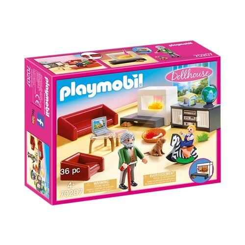 Playmobil Dollhouse   Wohnzimmer mit Kamin (70207)