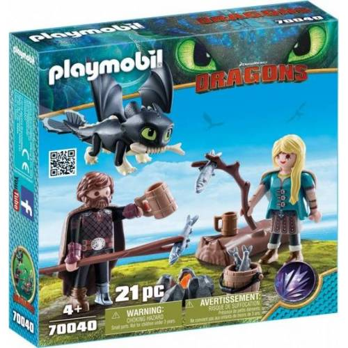 Playmobil Dragons   Hikkie und Astrid mit Babydrache (70040)