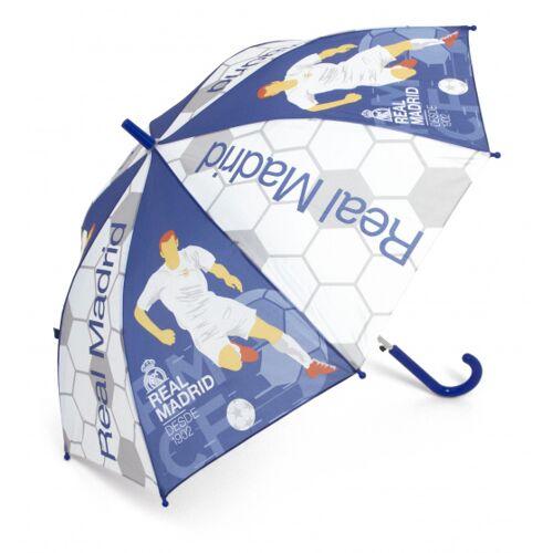 Real Madrid regenschirm Junior 58 cm transparent/blau