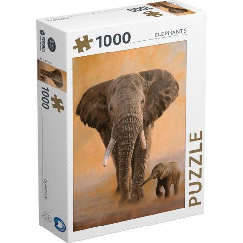 Rebo Productions puzzle Elefanten 1000 Teile