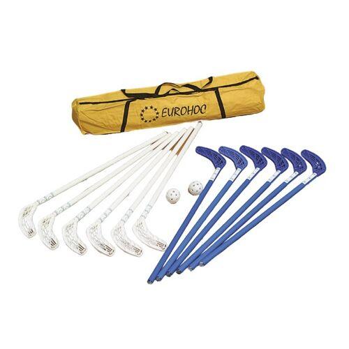 Reydon hockeyset EurohocClub 90 cm blau/weiß 17 teilig