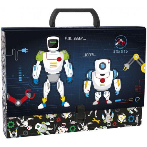 Robots aufbewahrungskoffer junior 33 x 24 cm Karton schwarz