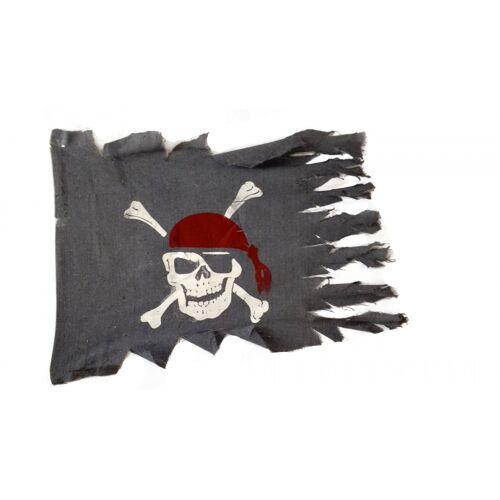 Rubie's piratenflagge 83 x 64 cm Polyester grau